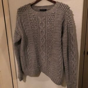 Banana Republic Italian yarn Grey chunky sweater